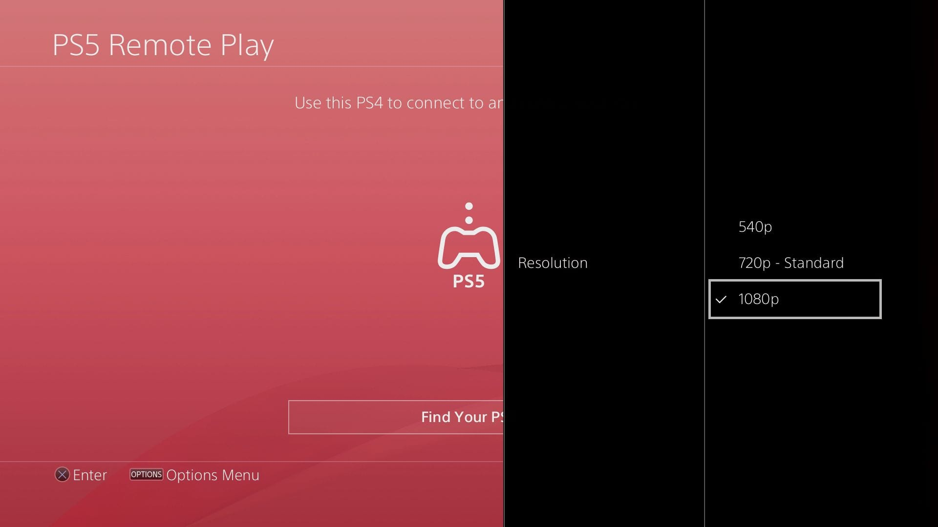 The PS5 Remote Play app can stream your new console on your old one in up to 1080p.