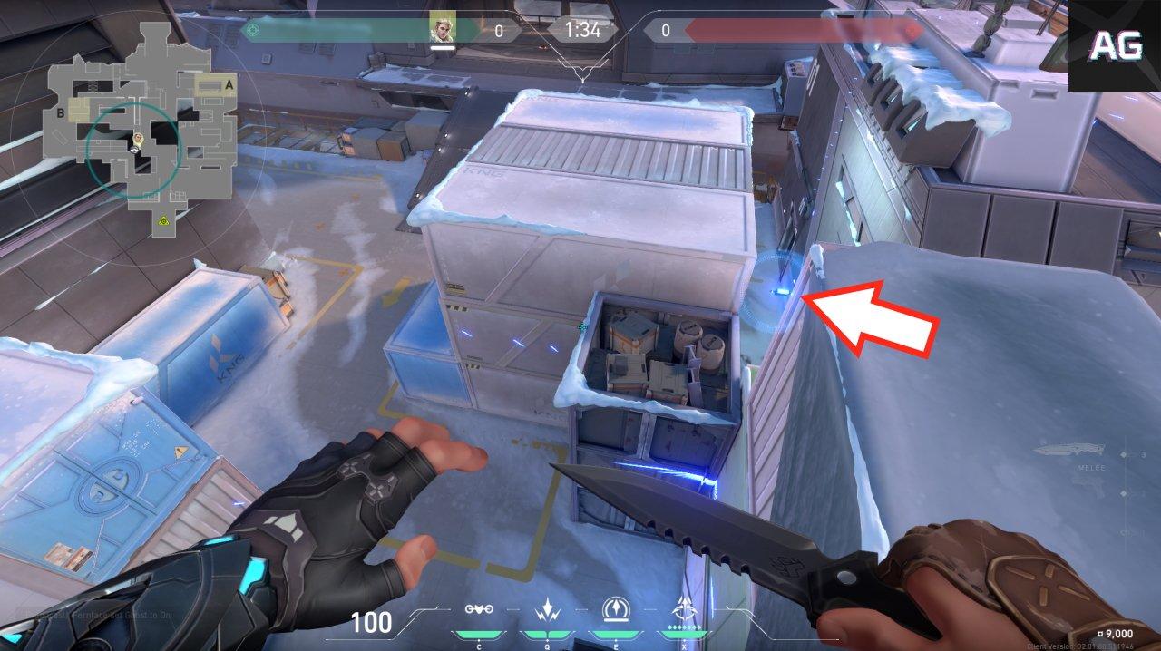 Sova recon bolt spots icebox valorant