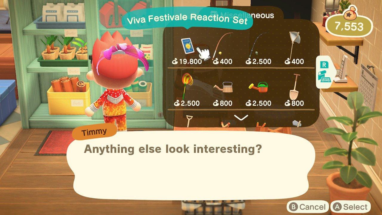 Animal Crossing New Horizons Festivale Reactions