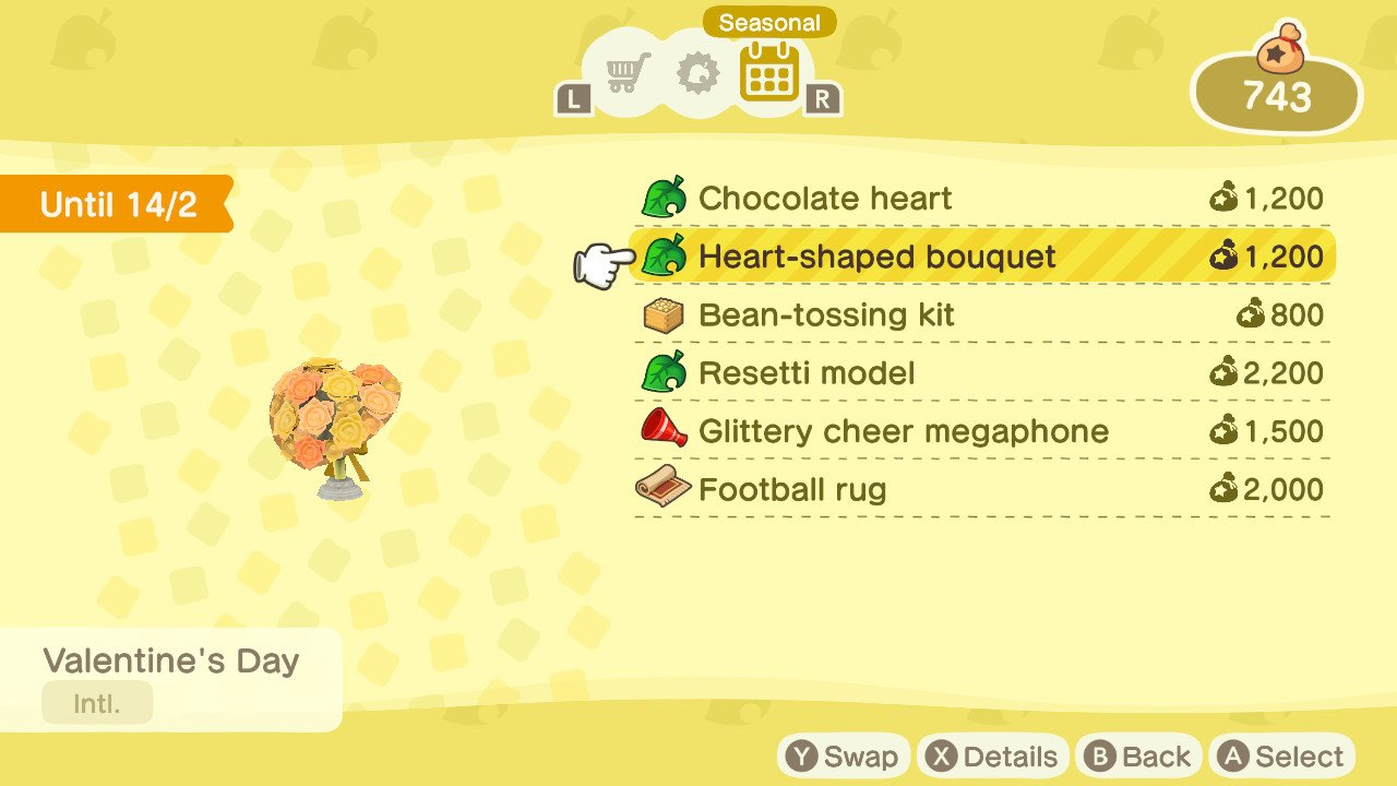 Valentines day animal crossing new horizons bouquet