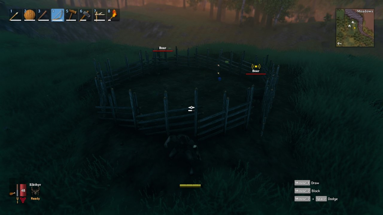 How to tame boars in Valheim