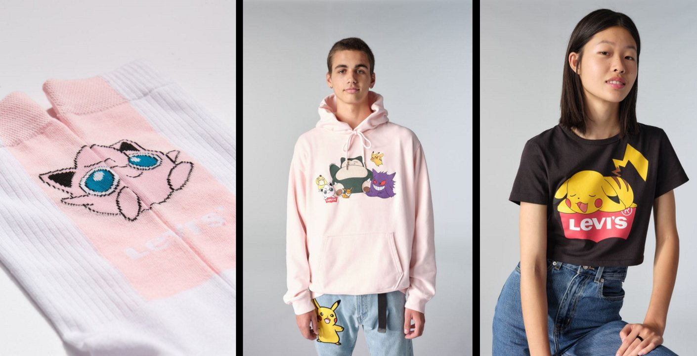 Levi's Pokemon clothing crossover collab