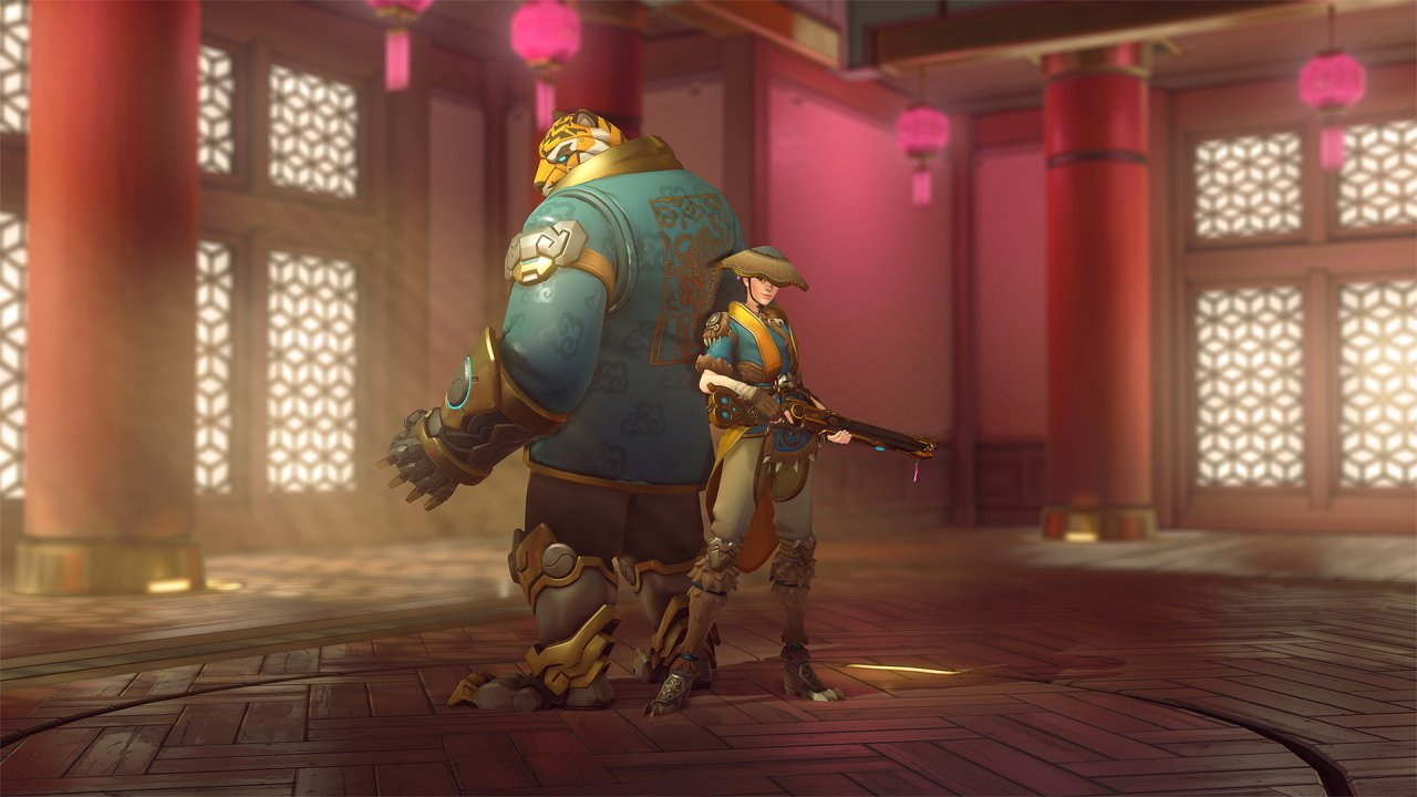 Overwatch lunar new year skins ashe Tiger Huntress