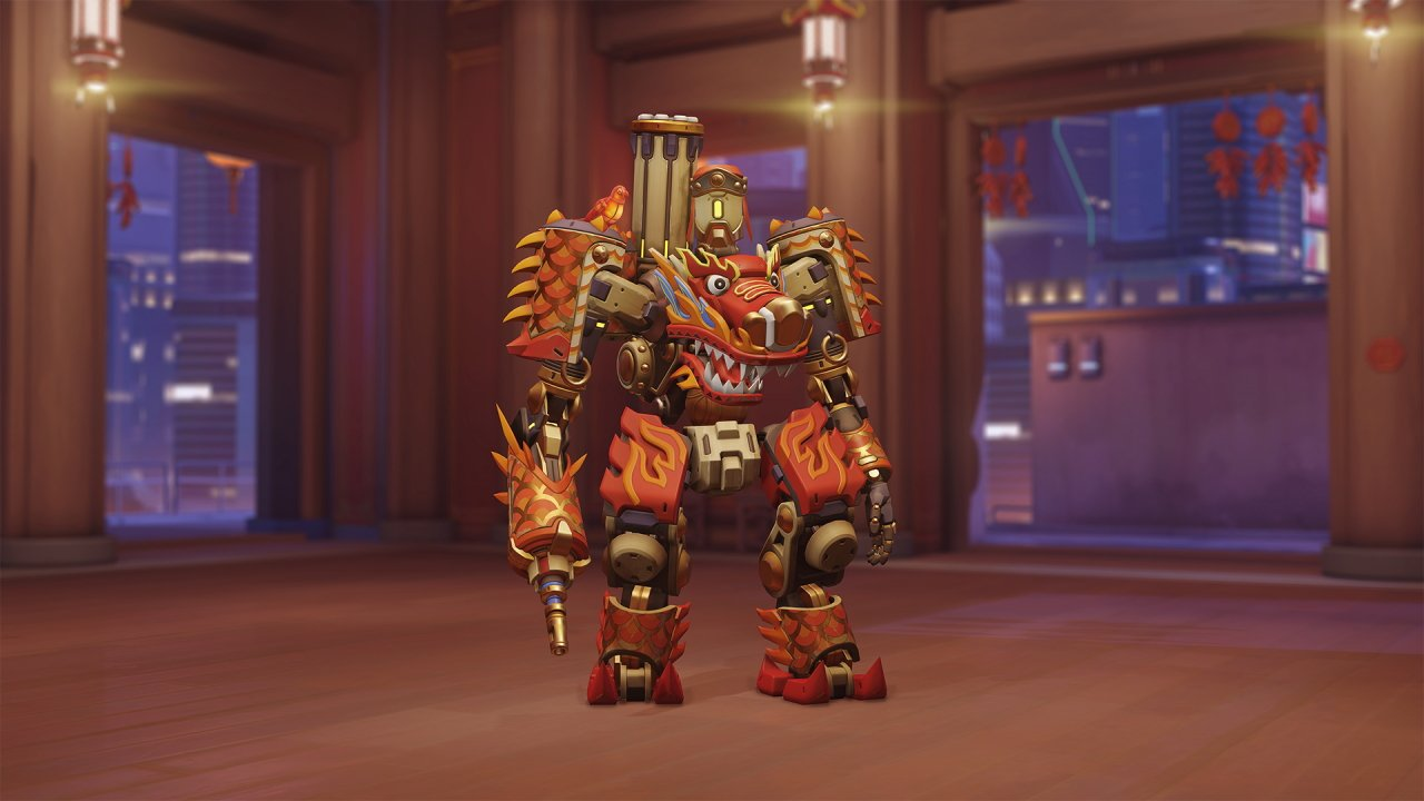 Overwatch Lunar New Year 2021 Bastion Dragonfire skin