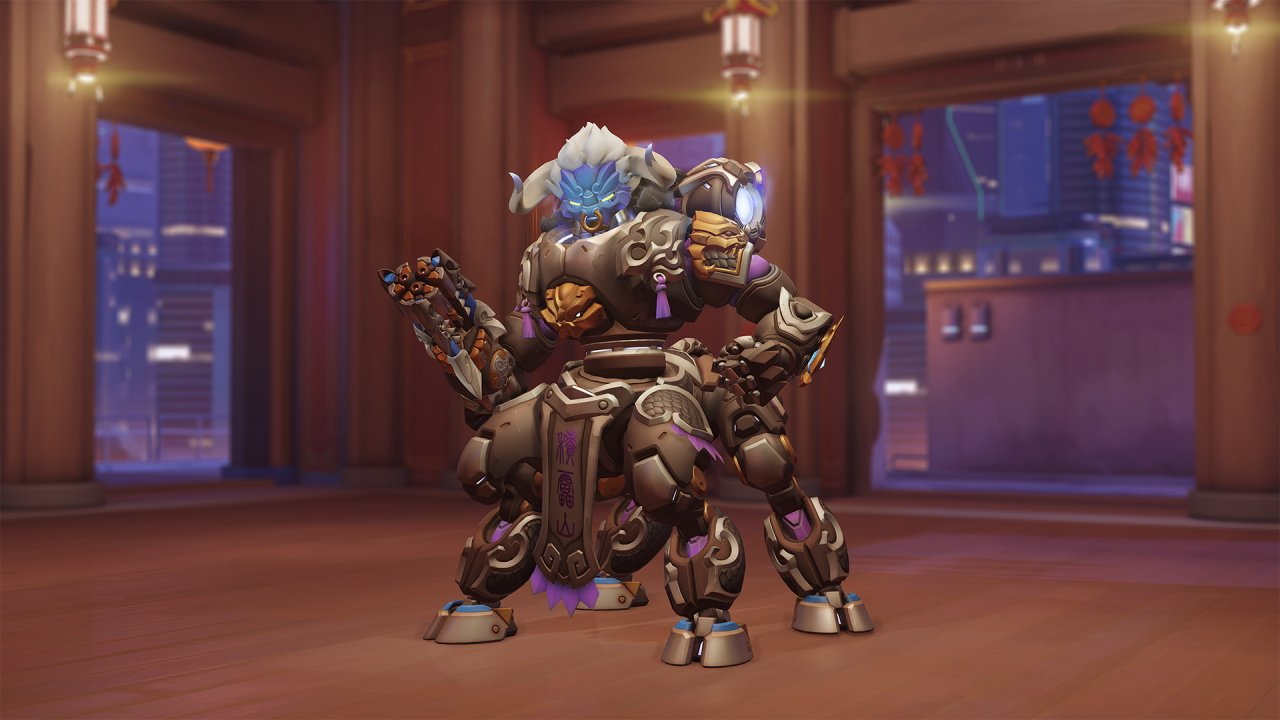 Overwatch lunar new year skins 2021 Orisa bull demon