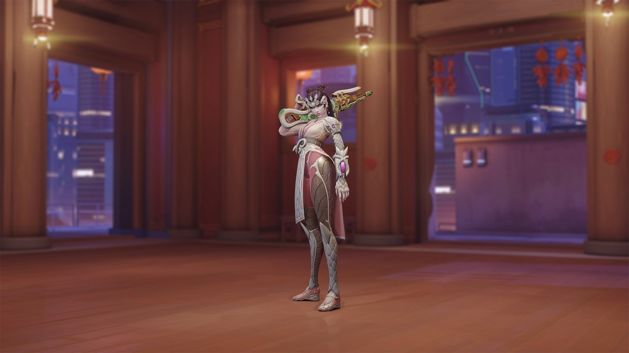 Overwatch lunar new year skins widowmaker pale serpent