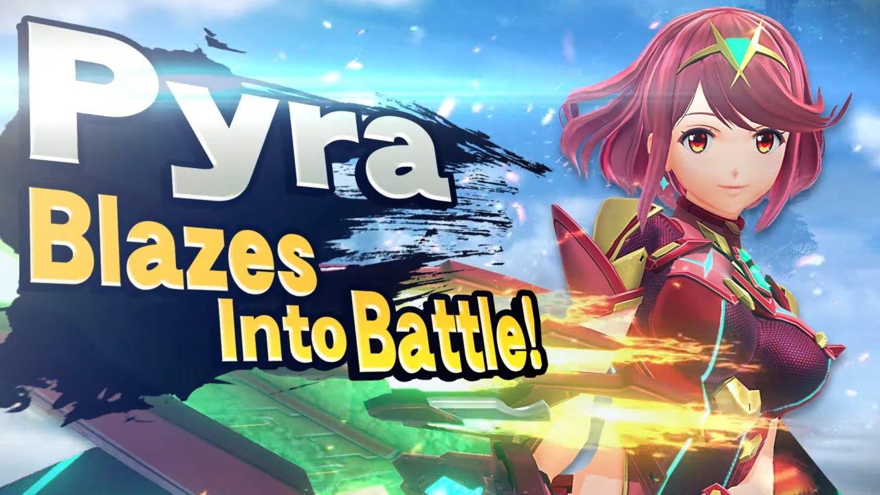 Pyra smash ultimate reveal nintendo direct
