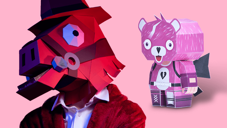 valentines day fortnite papercraft design masks