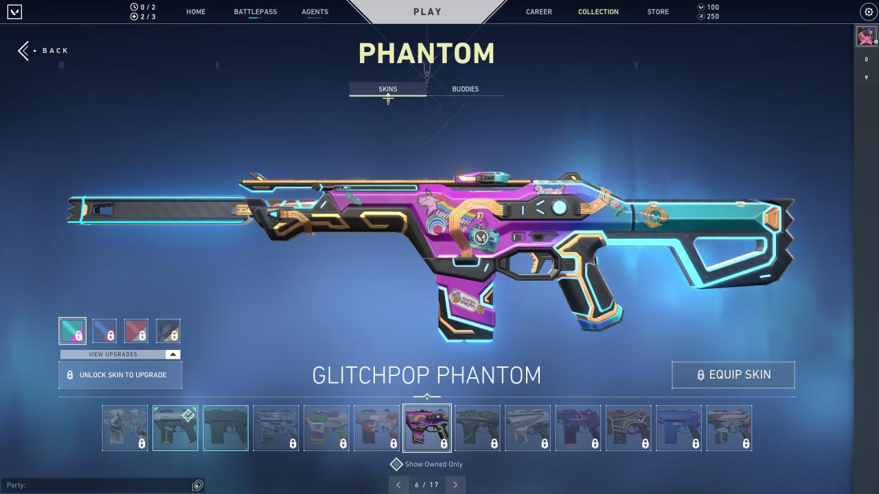 Valorant glitchpop skins phantom