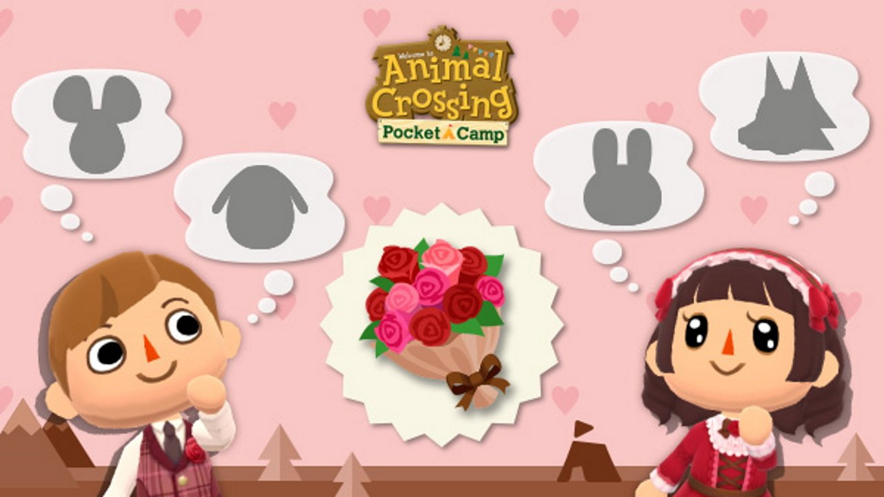 video game valentines day event animal crossing pocket camp