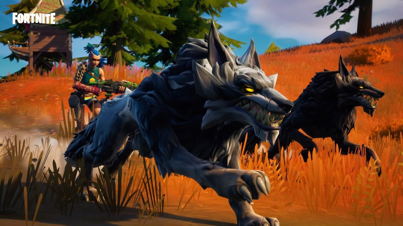 How to tame a wolf in Fortnite
