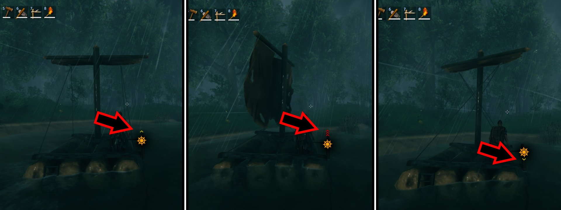 How to use the raft in Valheim