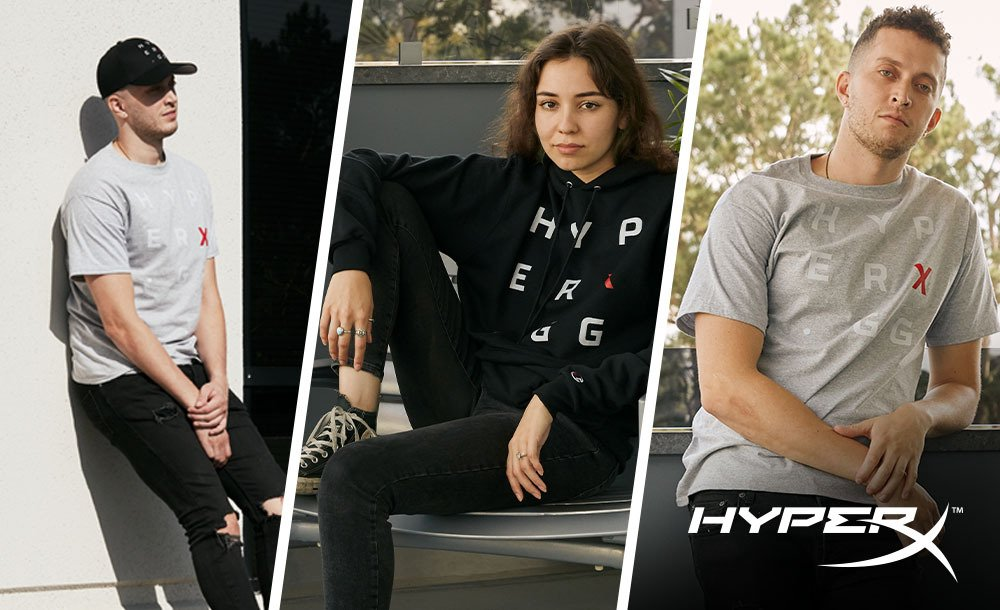 Hyperx gg collection champion clothing collab