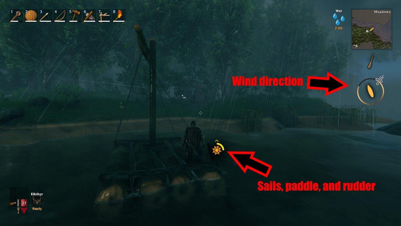How to use raft Valheim