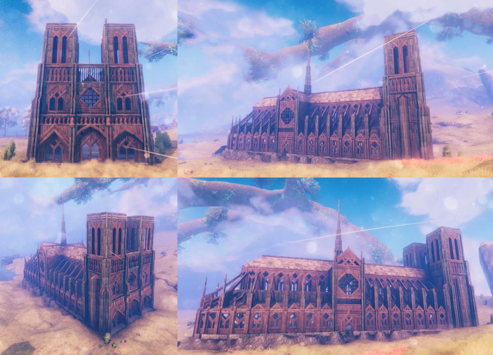 Valheim notre dame Cathedral creation