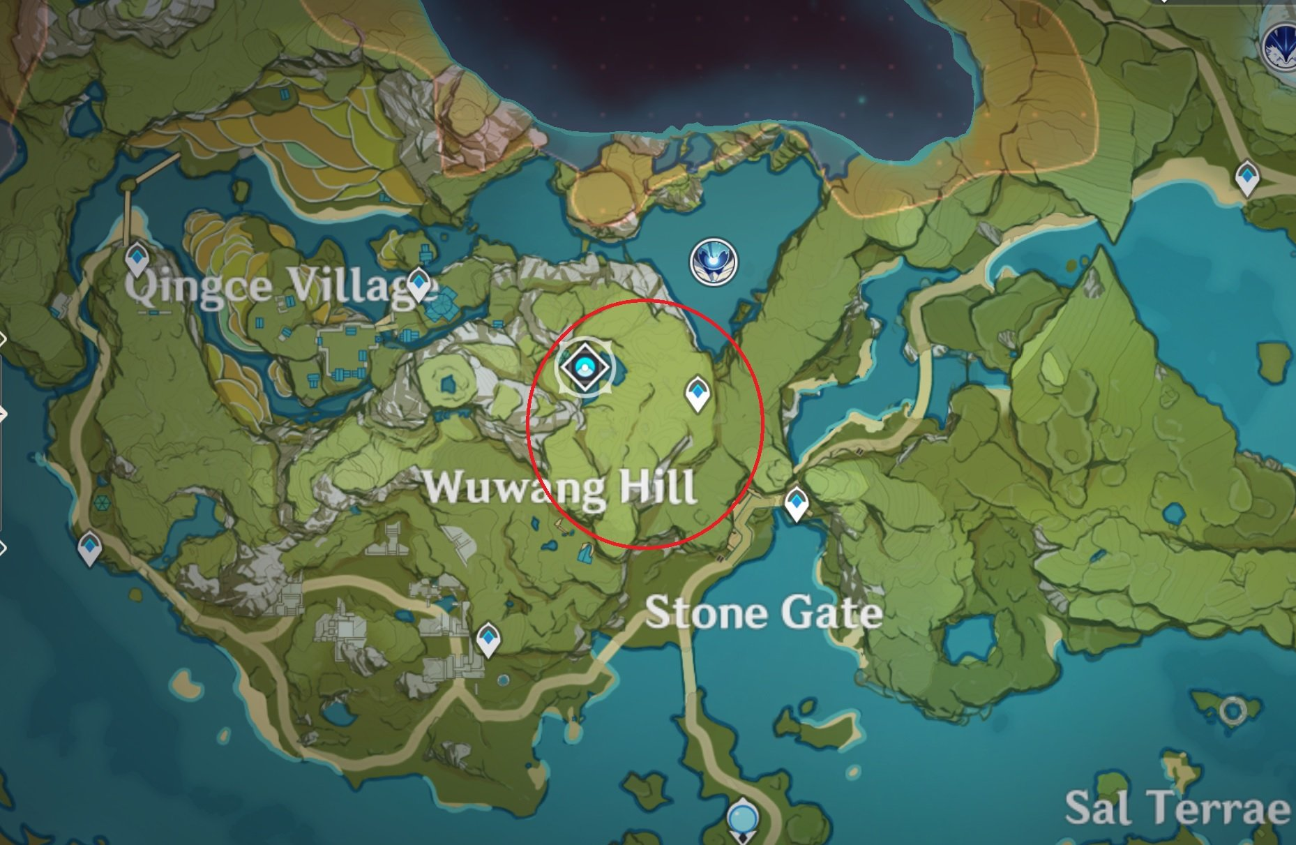 Genshin Impact pine wood locations map best place to farm
