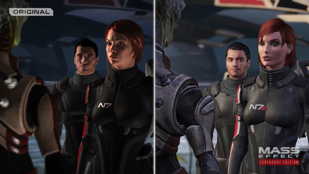 Mass Effect Legendary Edition remaster visual comparison