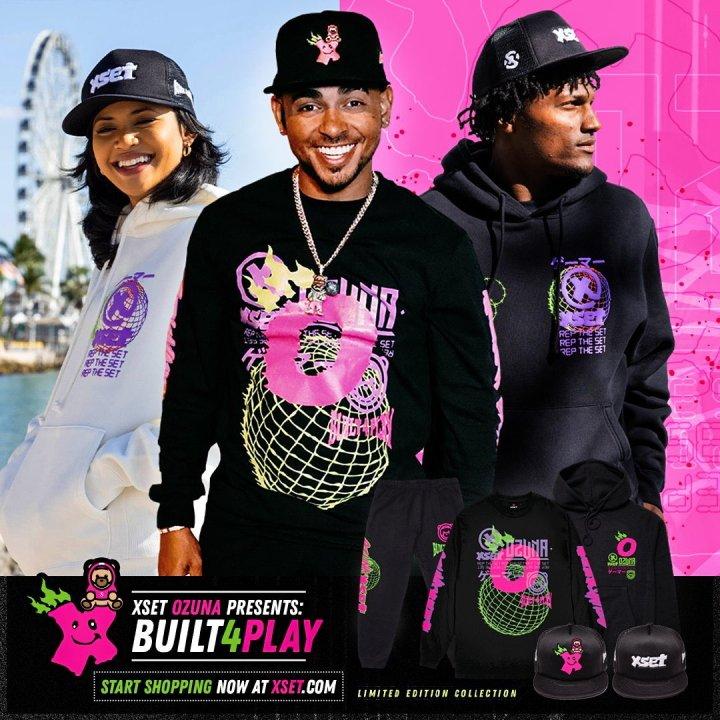 XSET ozuna collab clothing built 4 play
