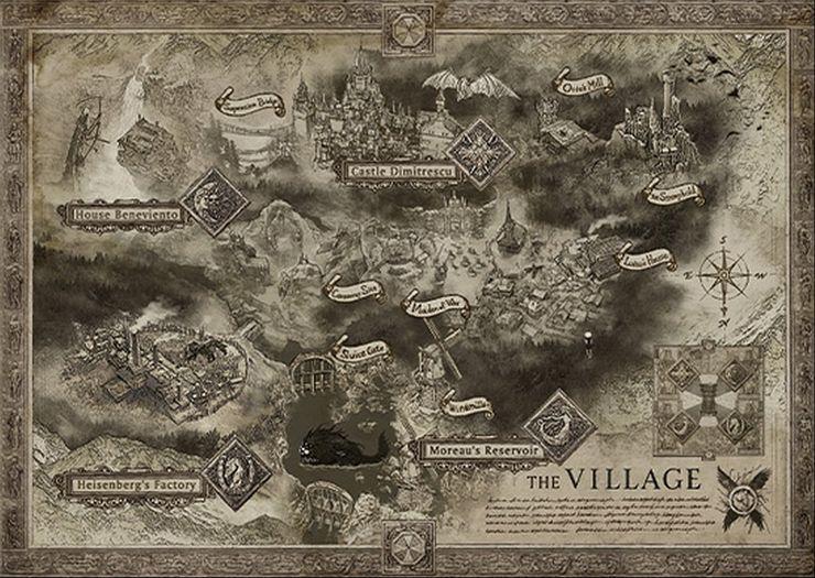 Resident Evil Vilalge map house leaders