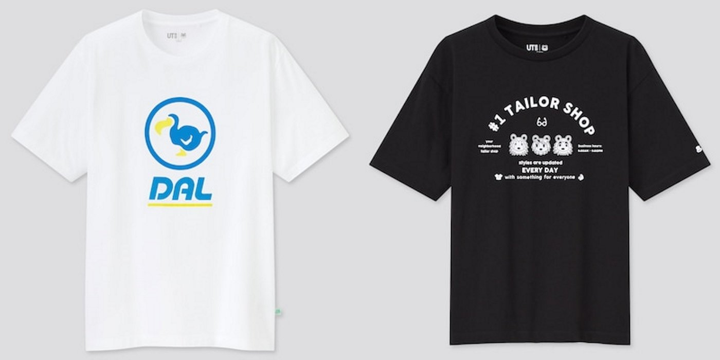 Uniqlo Animal Crossing t-shirt collab