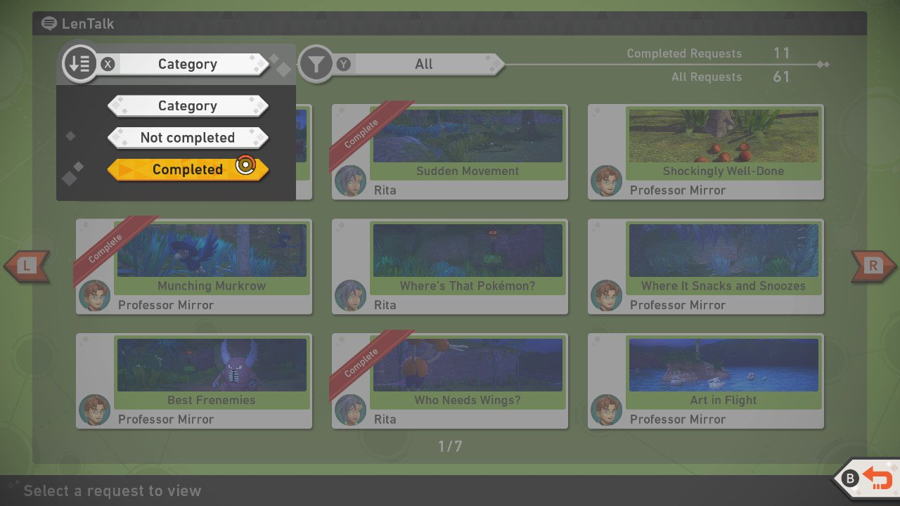 New Pokemon Snap how to complete requests