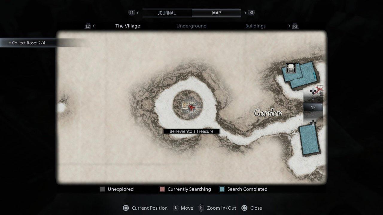 beneviento's treasure resident evil village guide - map location