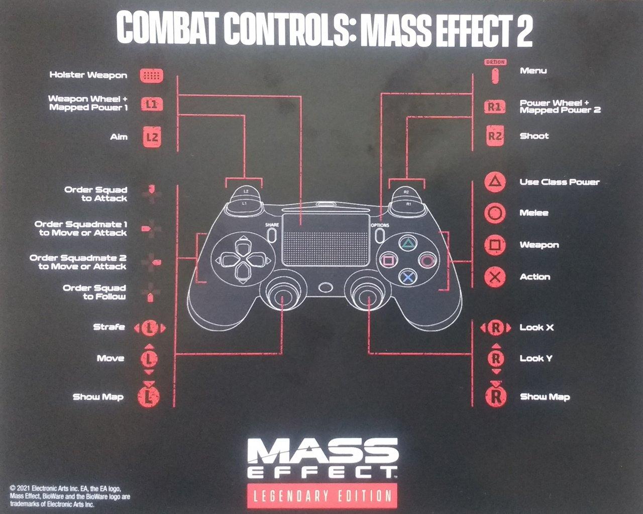 Mass Effect Legendary edition controls Mass Effect 2