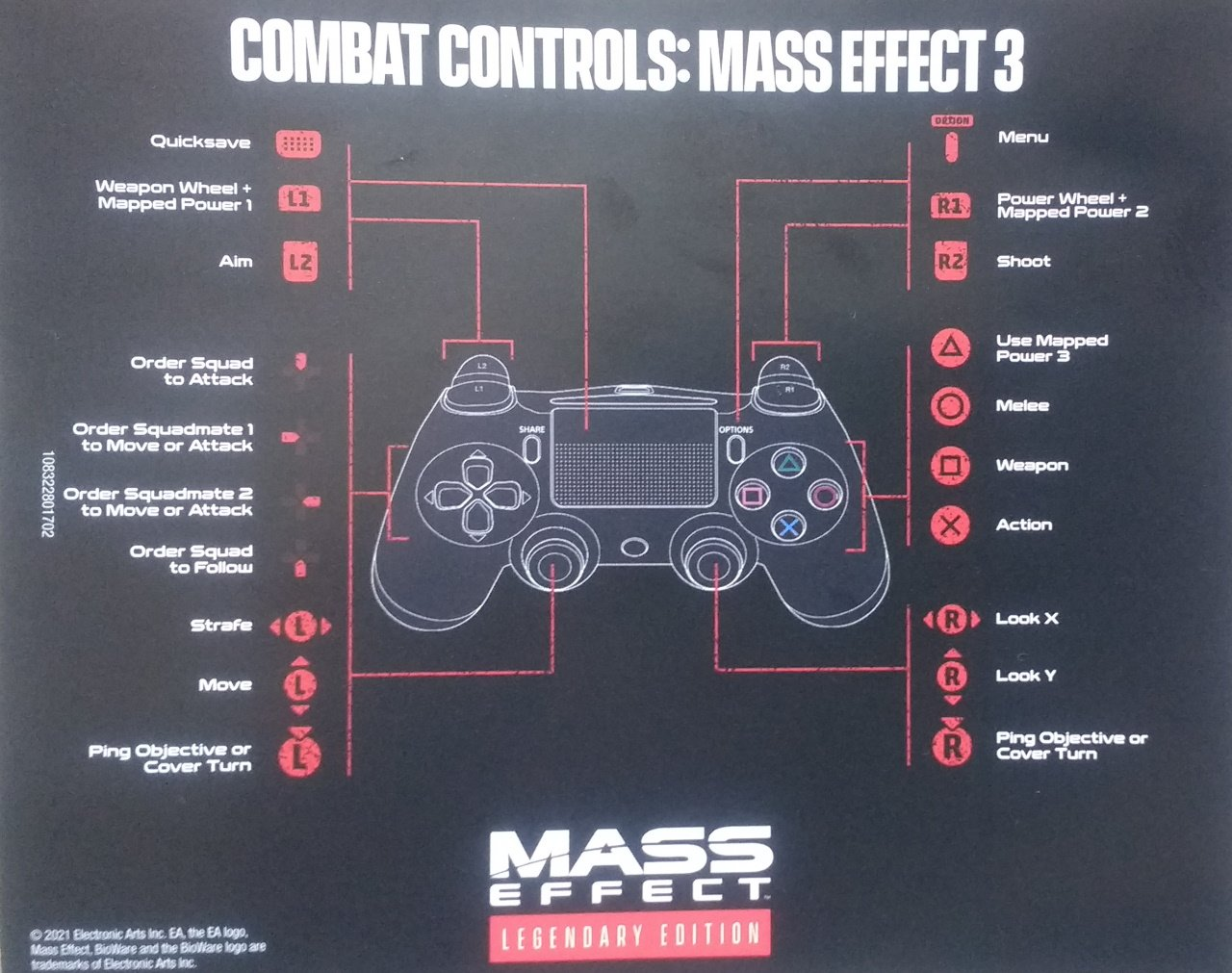 Mass Effect Legendary Edition Controls Mass Effect 3