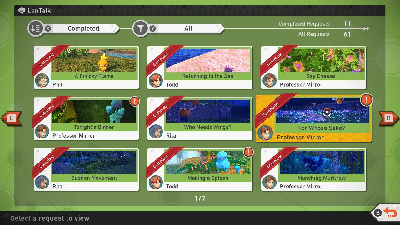 New Pokemon Snap how to complete requests reward