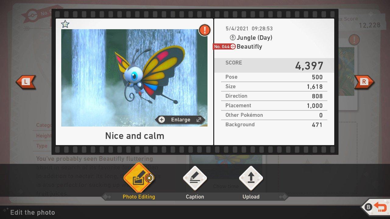 New Pokemon Snap Scoring System Background