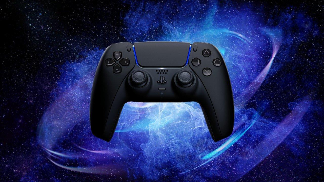 PS5 black controller design dualsense midnight black