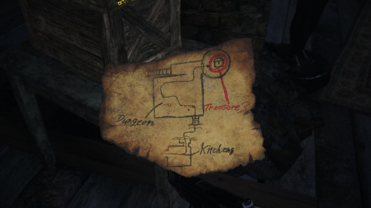 resident evil castle dimitrescu treasure map guide