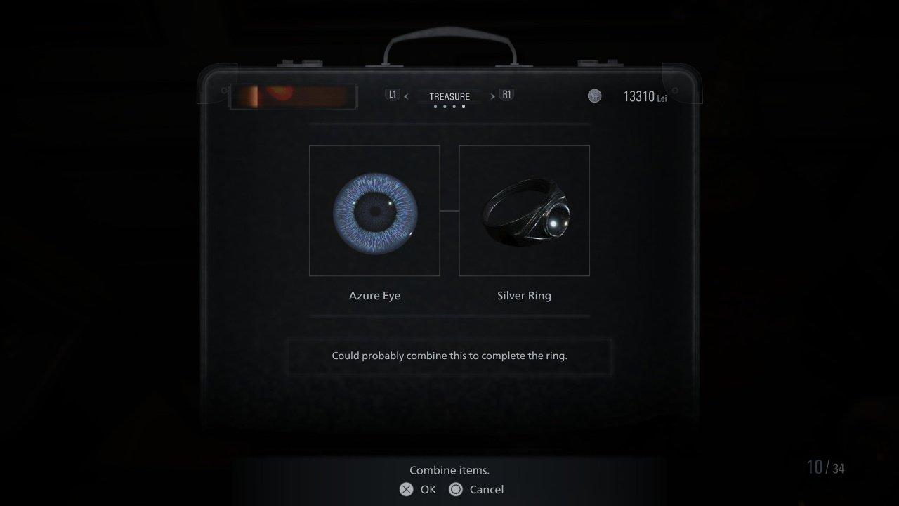 Resident Evil Village Azure Eye Silver Ring treasure