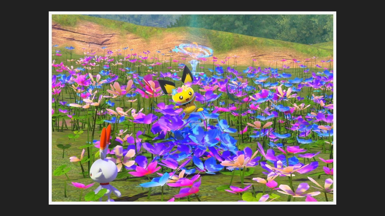 Three friends among flowers request new pokemon snap guide
