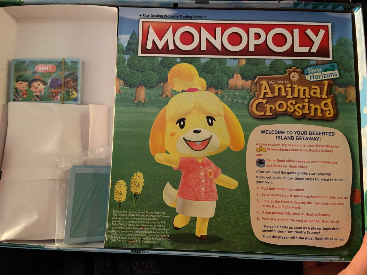 Animal crossing monopoly game box minis