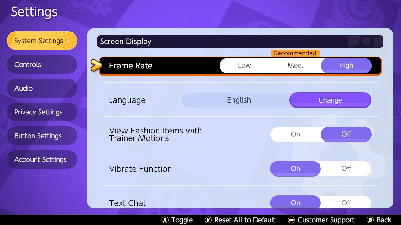 How to enable high frame rate in Pokemon Unite