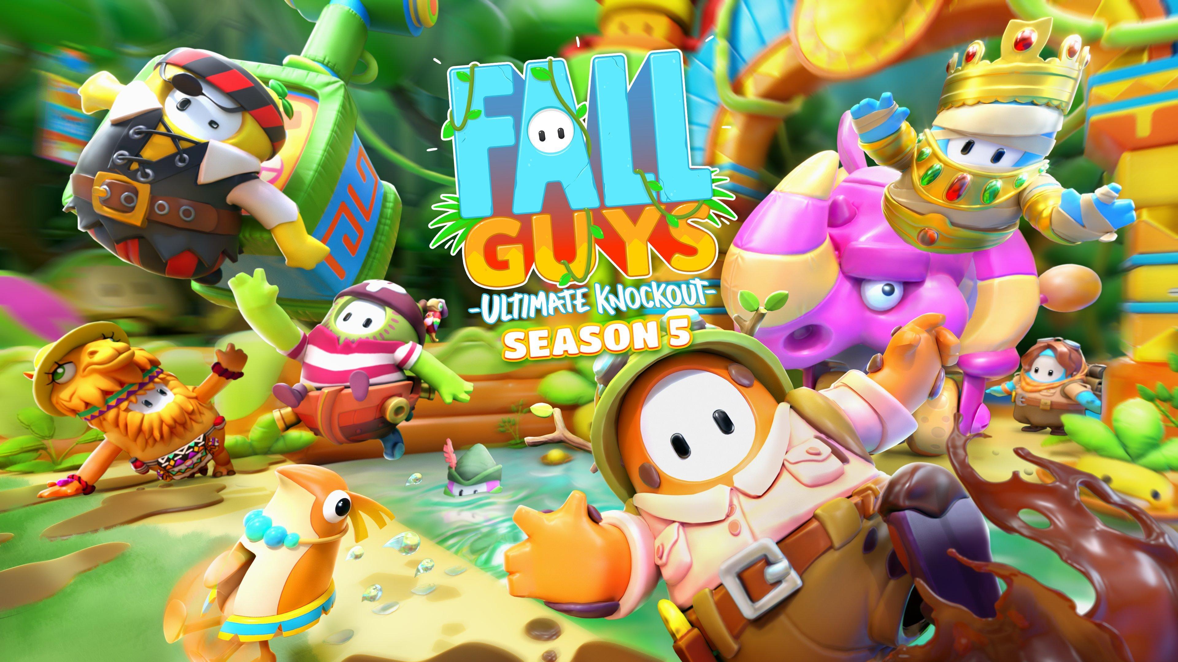 Fall Guys Season 5 jungle adventure levels details