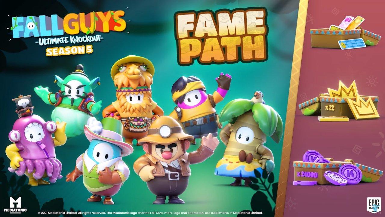 Fall Guys season 5 release date fame pass