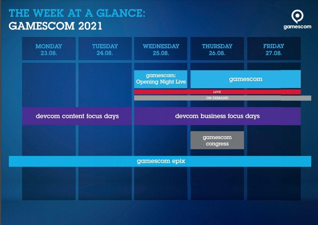 Gamescom companies 2021 schedule