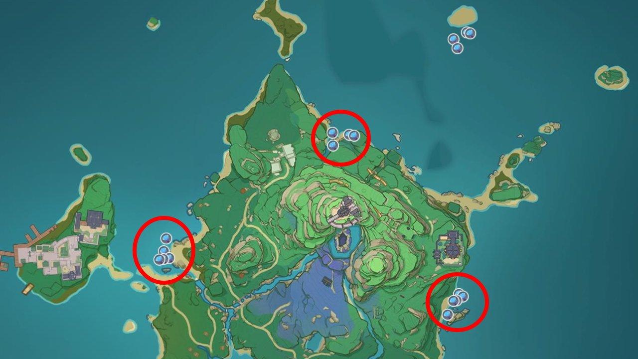 Genshin Impact inazuma sea ganoderma locations farming guide