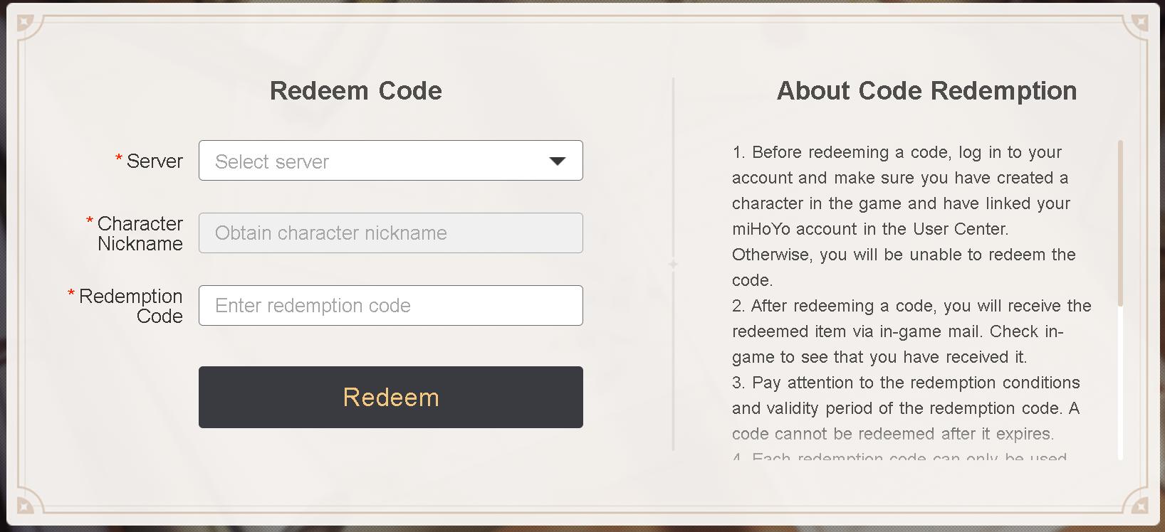How to redeem codes in Genshin Impact © miHoYo
