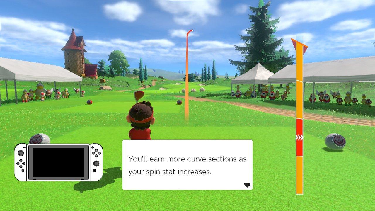 How to curve shots mario golf super rush