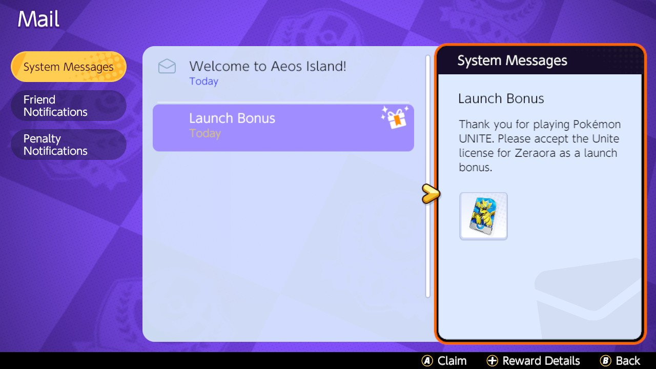 How to get Zeraora pokemon Unite free unlock