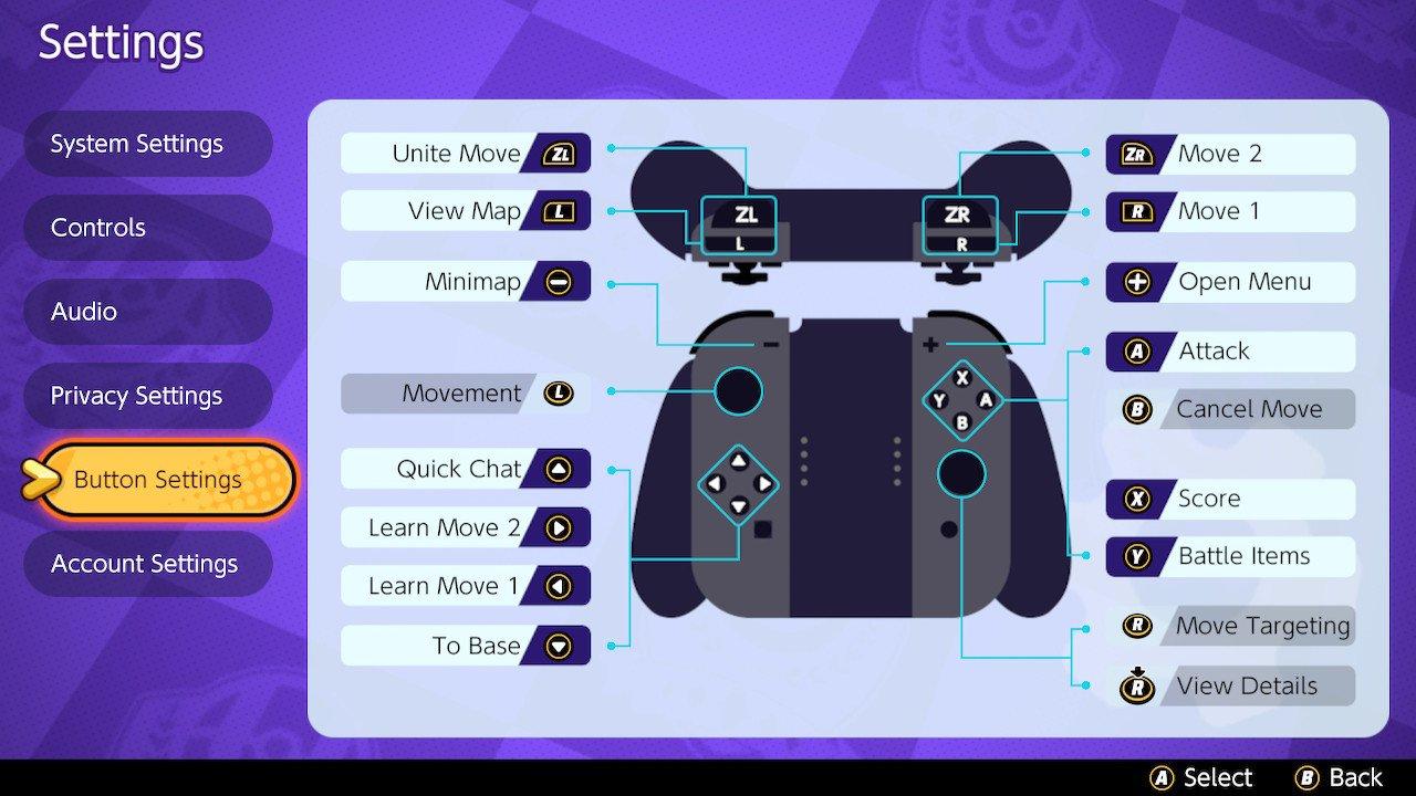 Pokemon Unite controls guide
