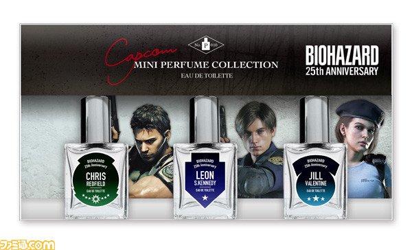 Resident evil perfume capcom jill valentine chris redfield leon kennedy