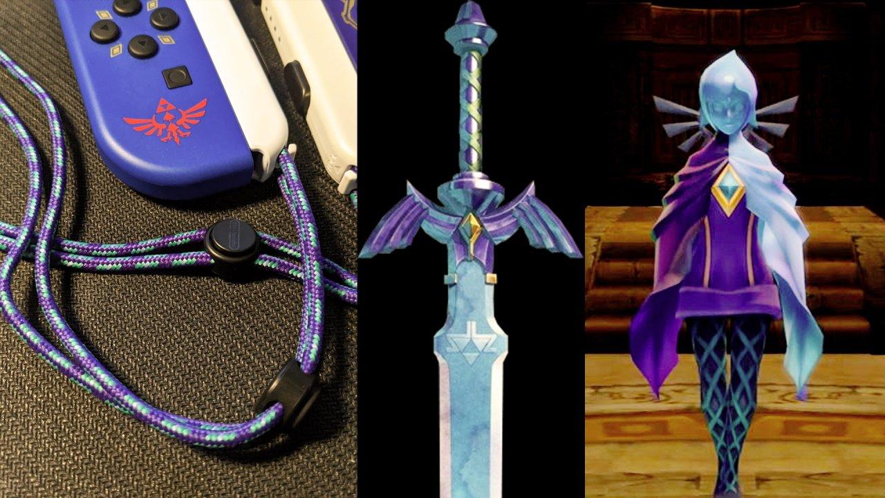 Skyward sword joy-con controller wrist strap secret fi