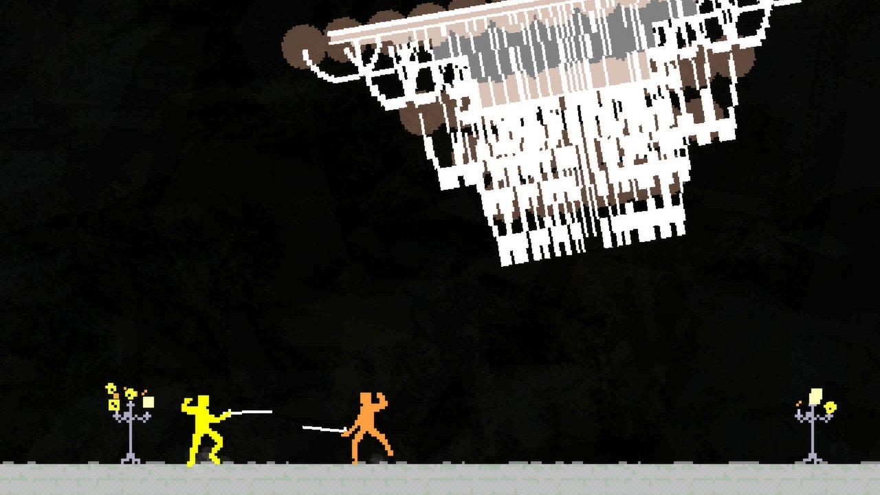 Video game olympics Nidhogg fencing