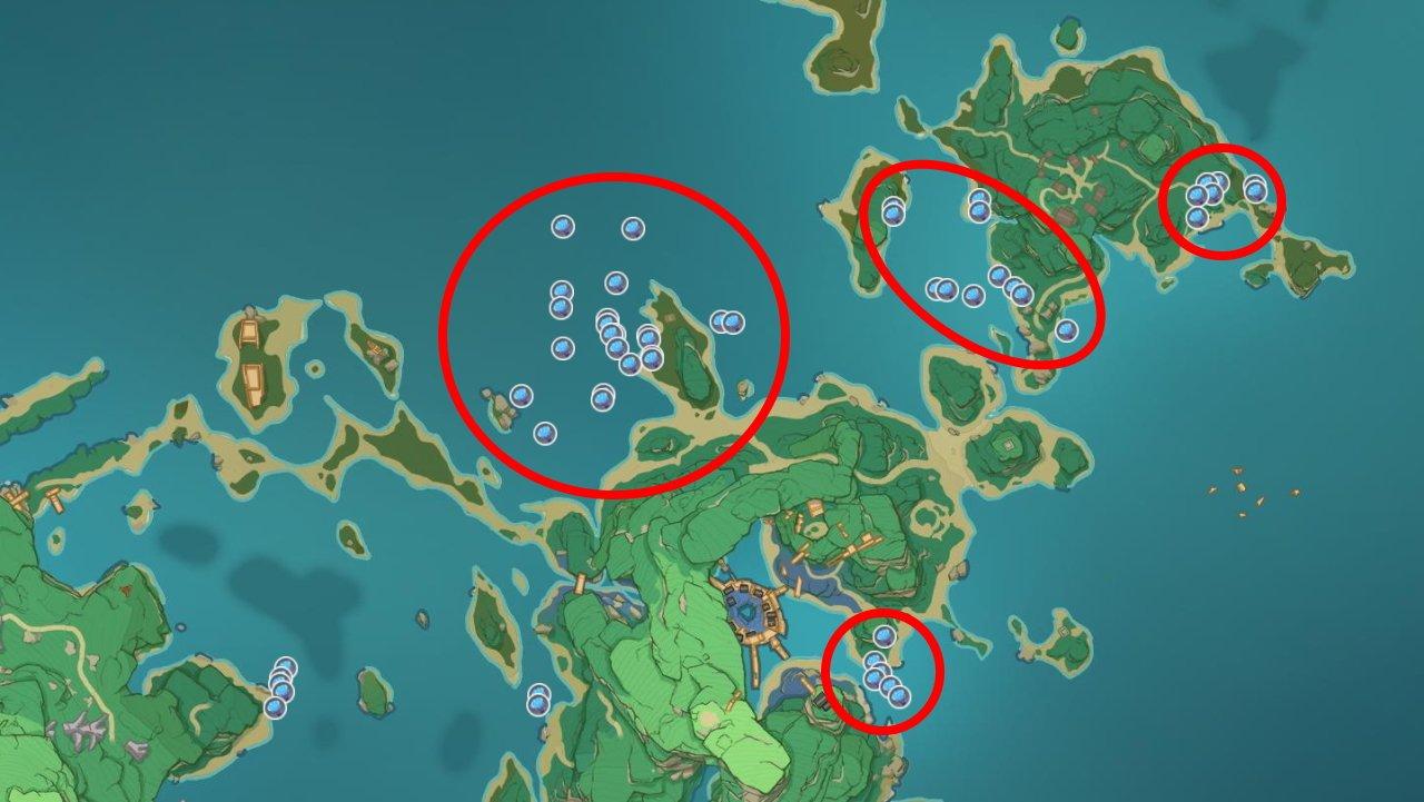 Where to find sea ganoderma inazuma genshin impact