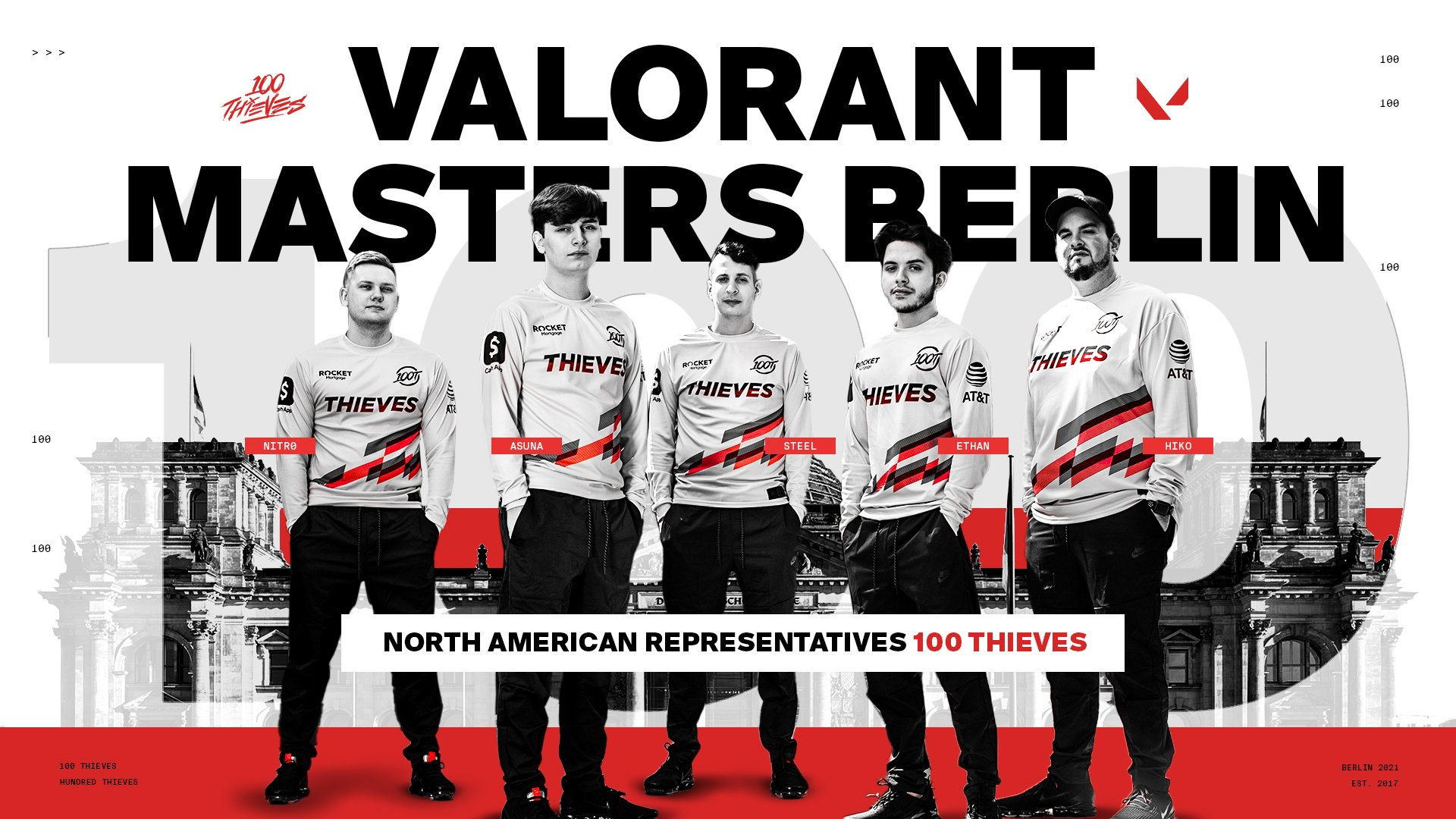 100 Thieves Valorant Masters Berlin qualified