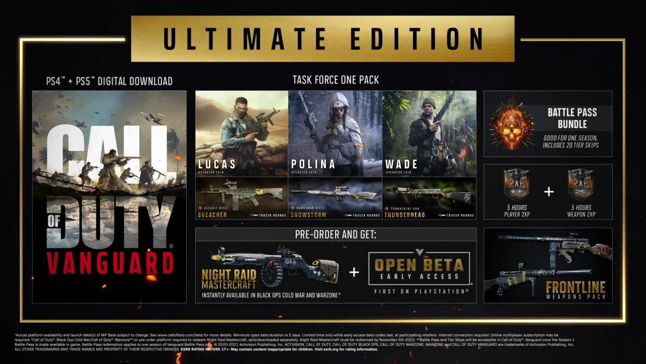Call of Duty Vanguard release date price pre-order bonuses